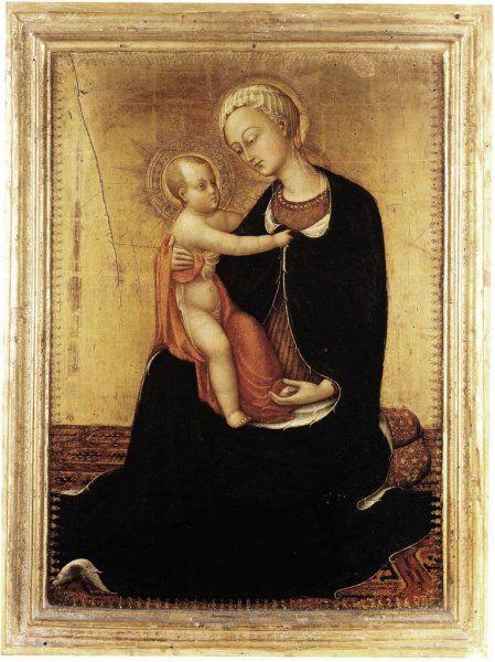 Stefano di Giovanni -llamado Il Sassetta- Virgen de la Humildad (1435)