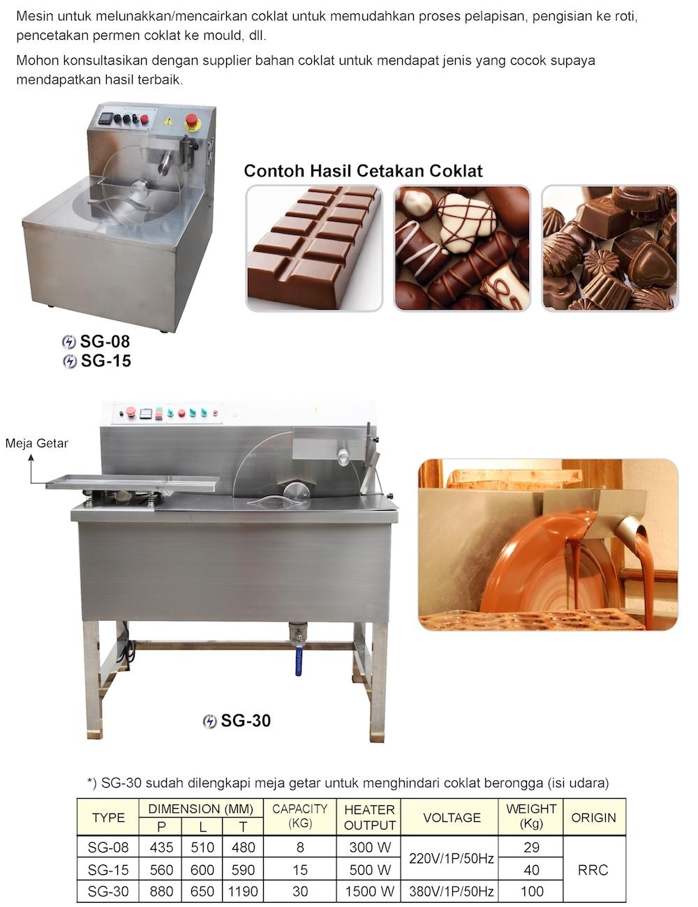 Broshur Mesin Tempering Coklat | Mesin Pencair & Pelunak Coklat