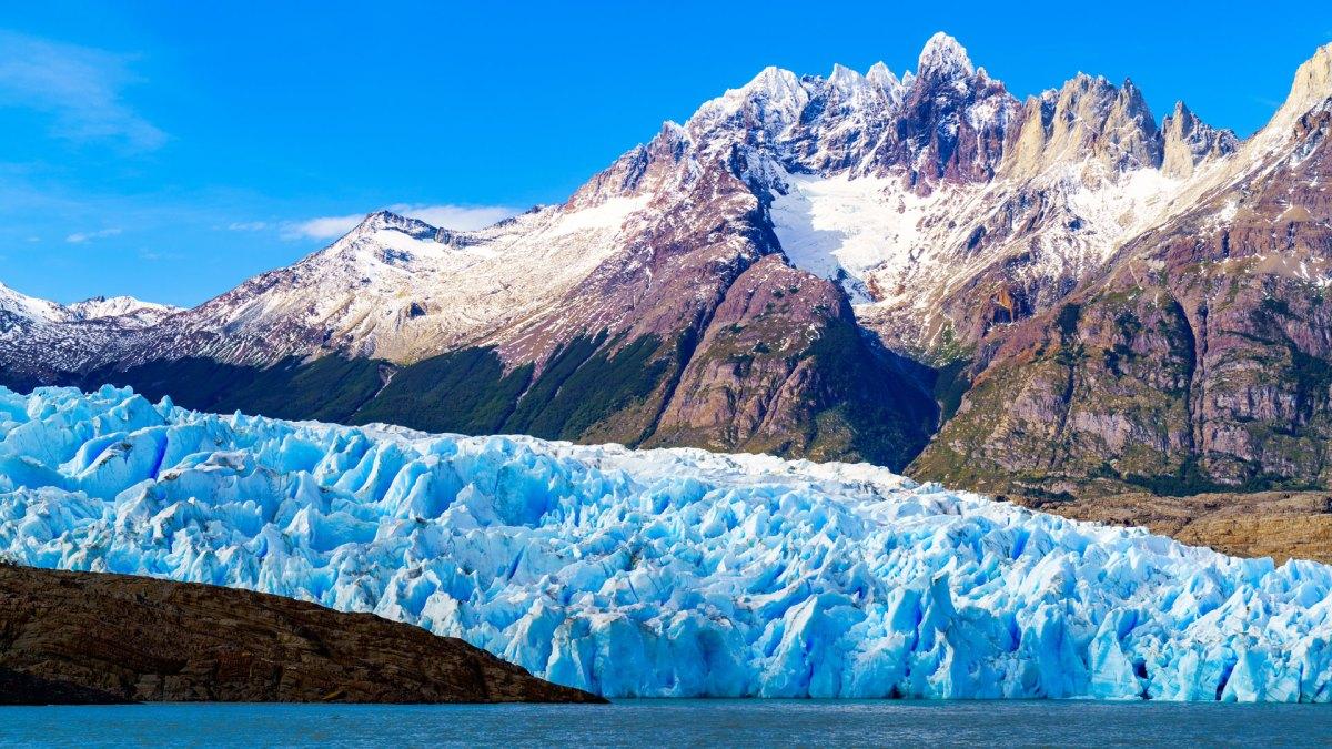 De Grey Gletsjer is het hoogtepunt van de eerste dag van de W-Trek met een backpack