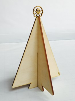 Slot-together plywood Christmas tree
