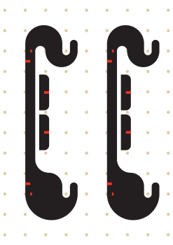 Graphic of the dowel holder designed in Illustrator