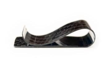 Carbon fiber money clip - profile