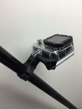 GoPro attached to ski pole mount