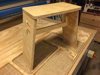 Johann Stool on the CNC table