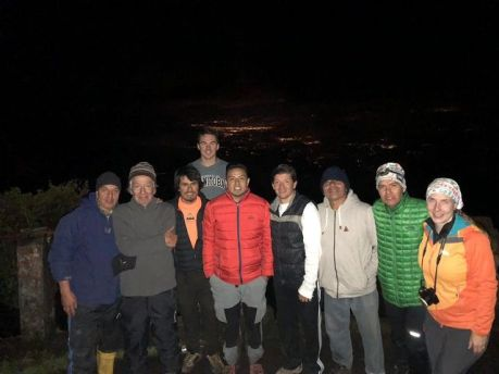 Tungurahua expedition group