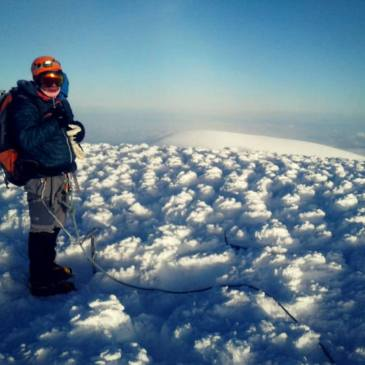 Brian Dagg on top of Chimborazo