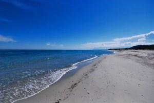 La spiaggia di Bèrchida, in territorio di Siniscola