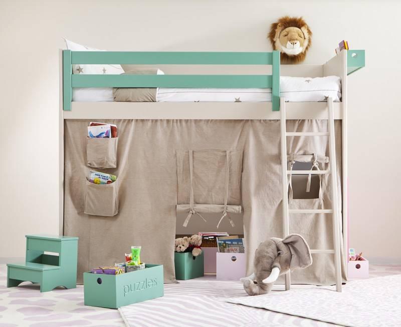 Lit Mezzanine Enfant Avec Etagere Design Bibliothque