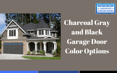 Charcoal Gray and Black Garage Door Color Options