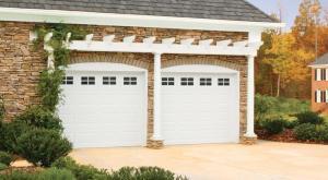 garage door trellis in Cache Valley