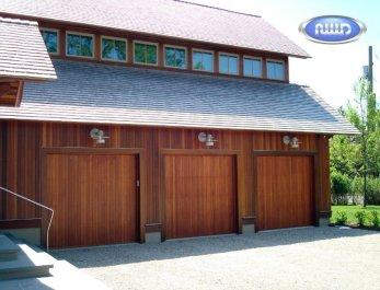 Wood garage door installed in Cache Valley