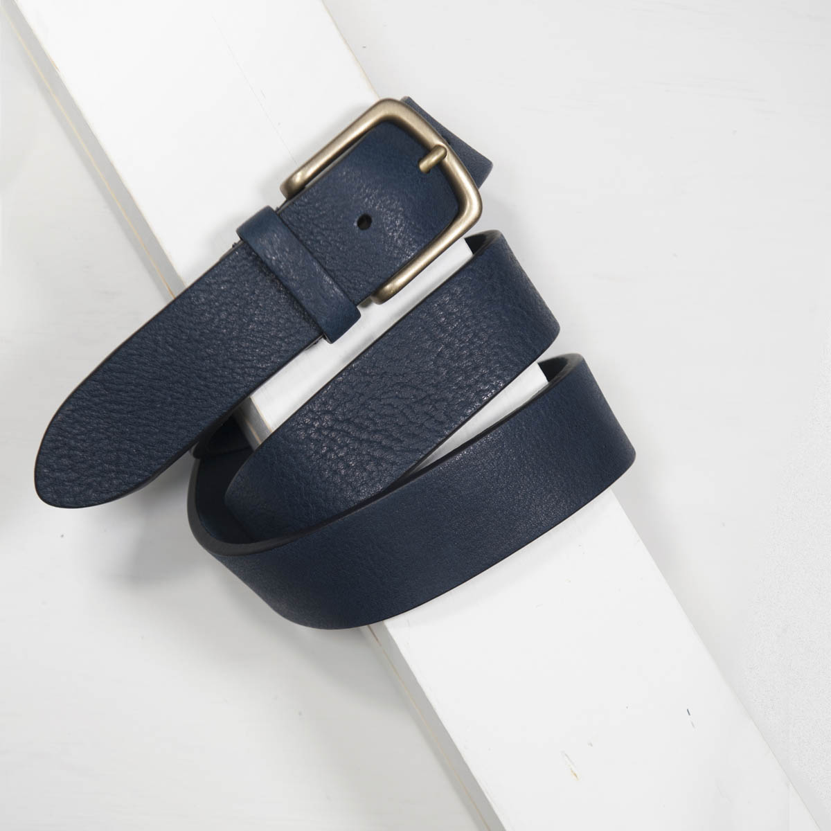 3,5 cm NAVY BULL GRAINED CALF CASUAL BELT