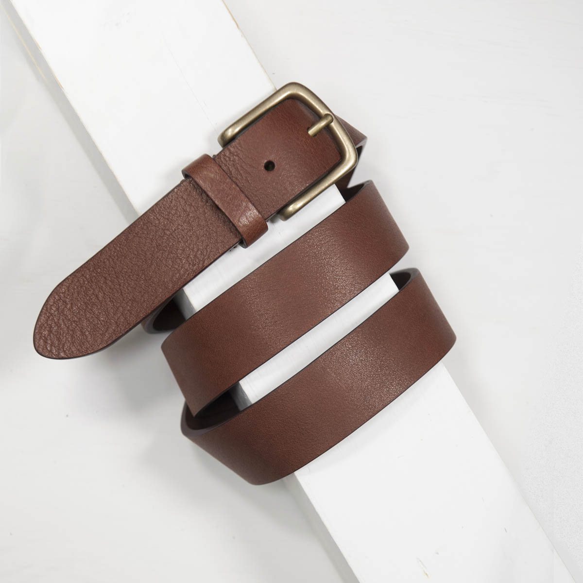 3,5 cm TAN BULL GRAINED CALF CASUAL BELT