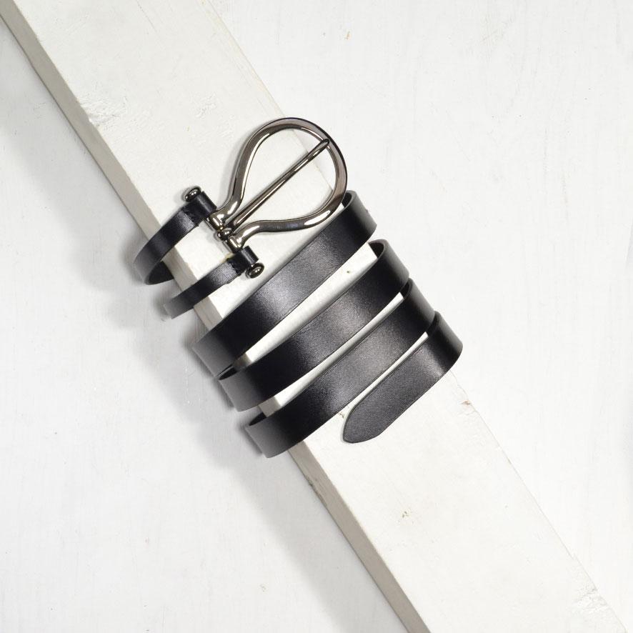 2-4 cm BLACK SPLIT BELT