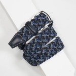 3,5 cm CLASSIC MULTI COLOUR ELASTIC WOVEN BELT NAVY/BLACK/GREY/BLUE
