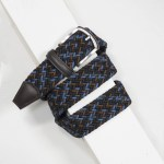 3,5 cm CLASSIC MULTI COLOUR ELASTIC WOVEN BELT NAVY/BLACK/BROWN/BLUE
