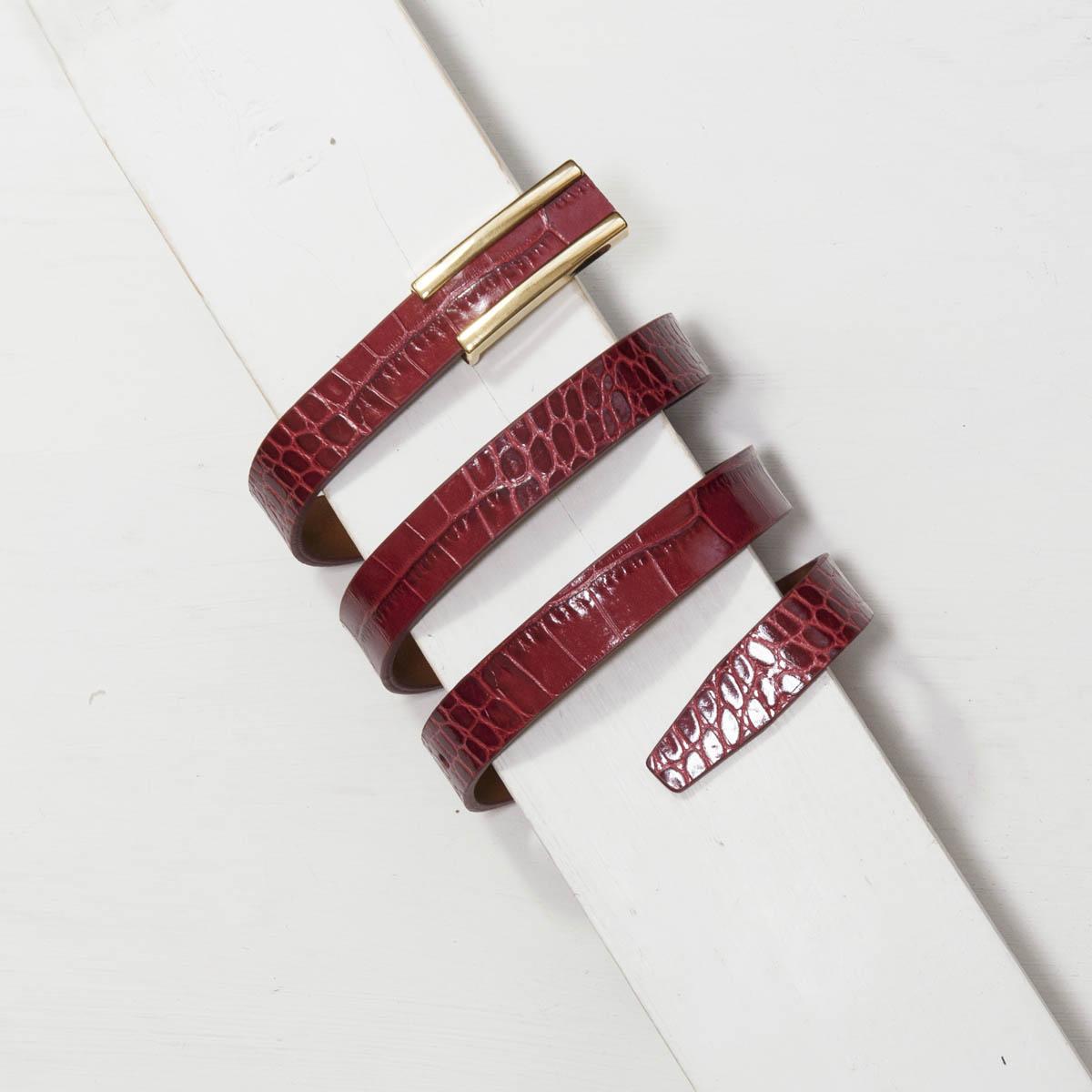2,0 cm RED MOCK CROC BELT/BAG