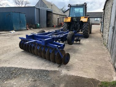 Blue disc harrow, www.andersonjohn.co.uk