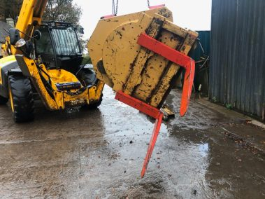big fork rotator for loading shovel