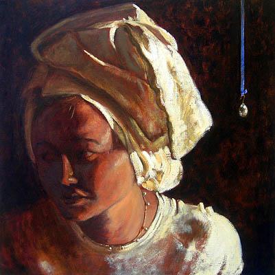 Melissa Anderson Scott, Annunciation, Olio su lino, 75 x 75 cm, 2007