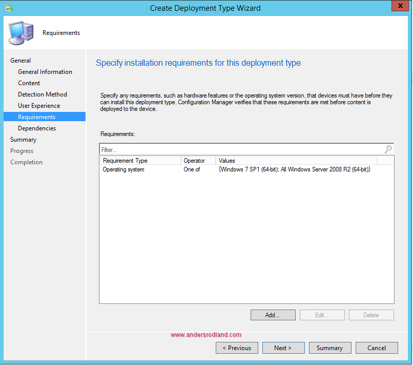Deploy Windows Management Framrwork 5.1 with SCCM requirements