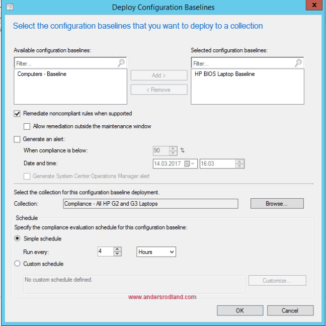 HP BIOS Configuration Baseline - Deploy