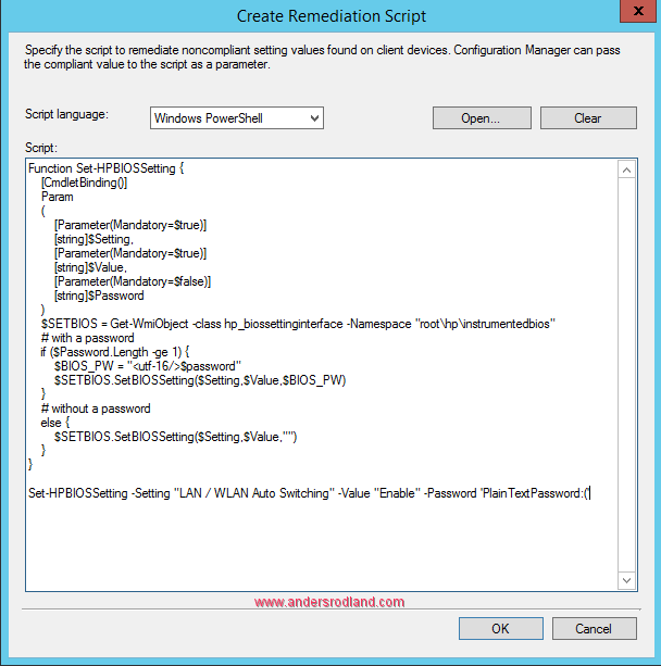 Manage BIOS Settings with SCCM Compliance Settings -5