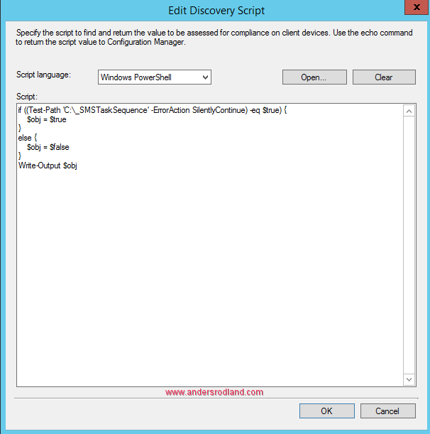 Computers that failed a Task Sequence - Configuration Item