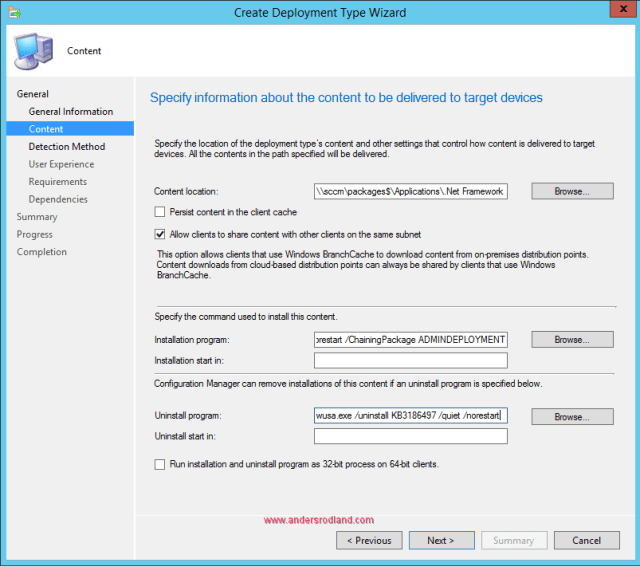 Deploying NET Framework 4.7 with configuration manager