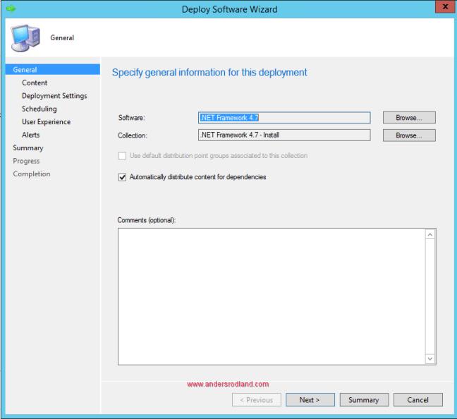 Deploy .NET Framework 4.7 with SCCM