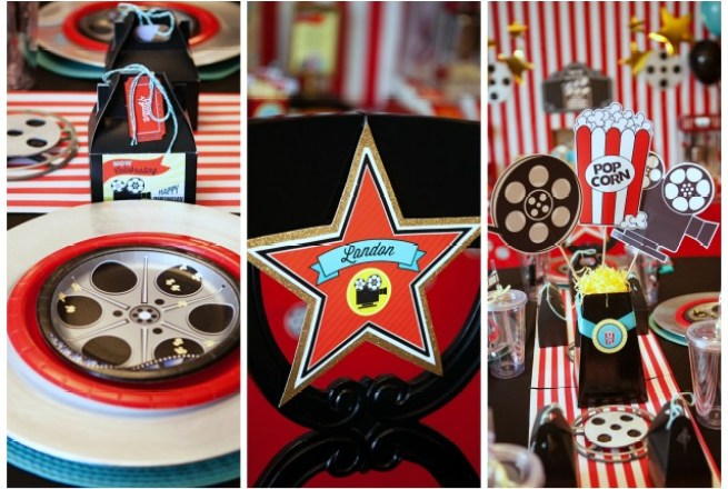 movie party place setting