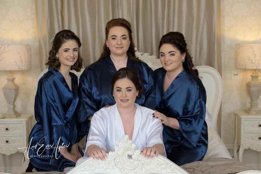 Bride, bridesmaids, wedding photography