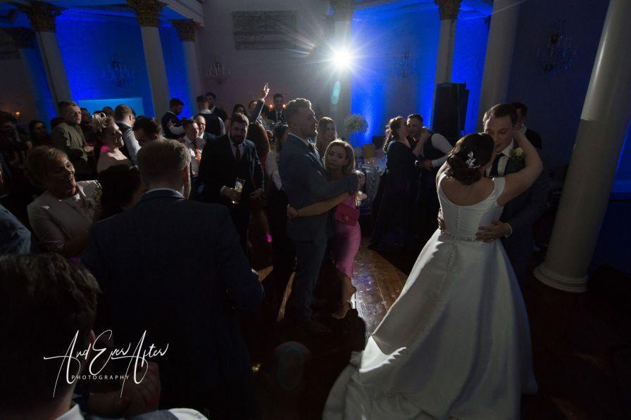 Wedding dance, bride and groom