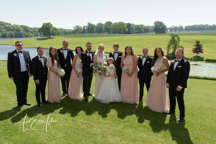 wedding day group shots