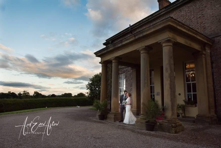 solberge hall, wedding, bride and groom