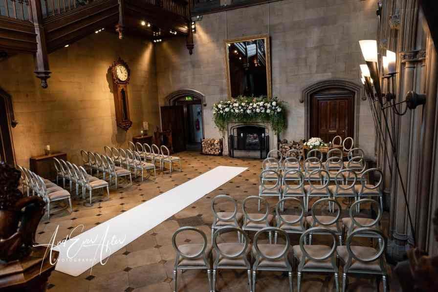 The great hall at matfen, north east wedding venue