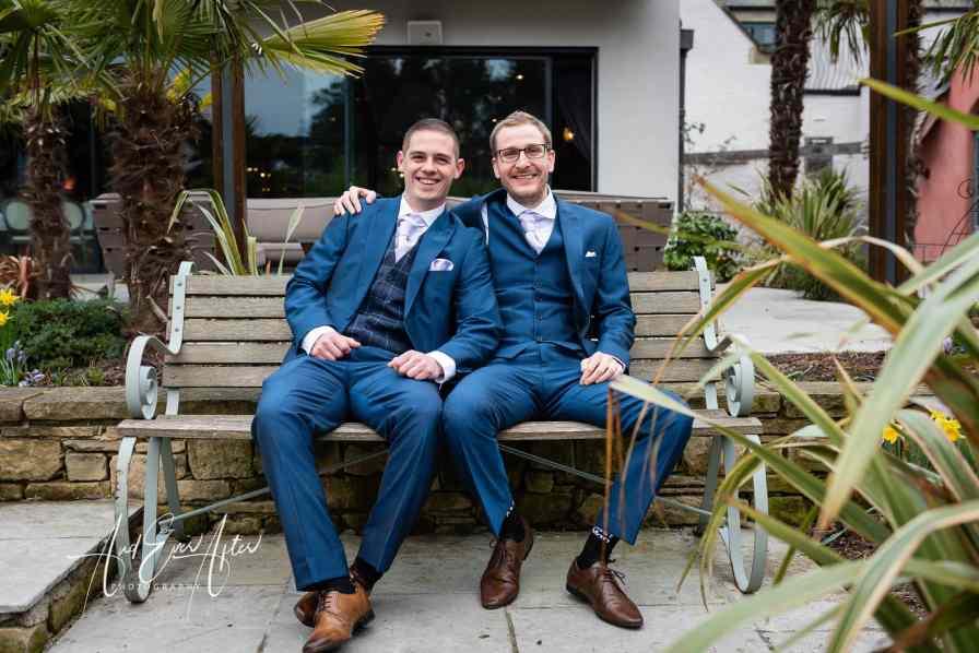 groom, best man, le petit chateau, wedding photography