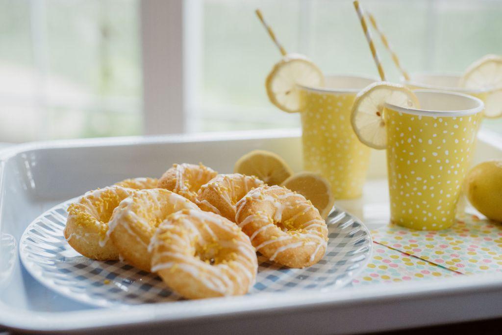 Baked Lemon Cake Donuts 1