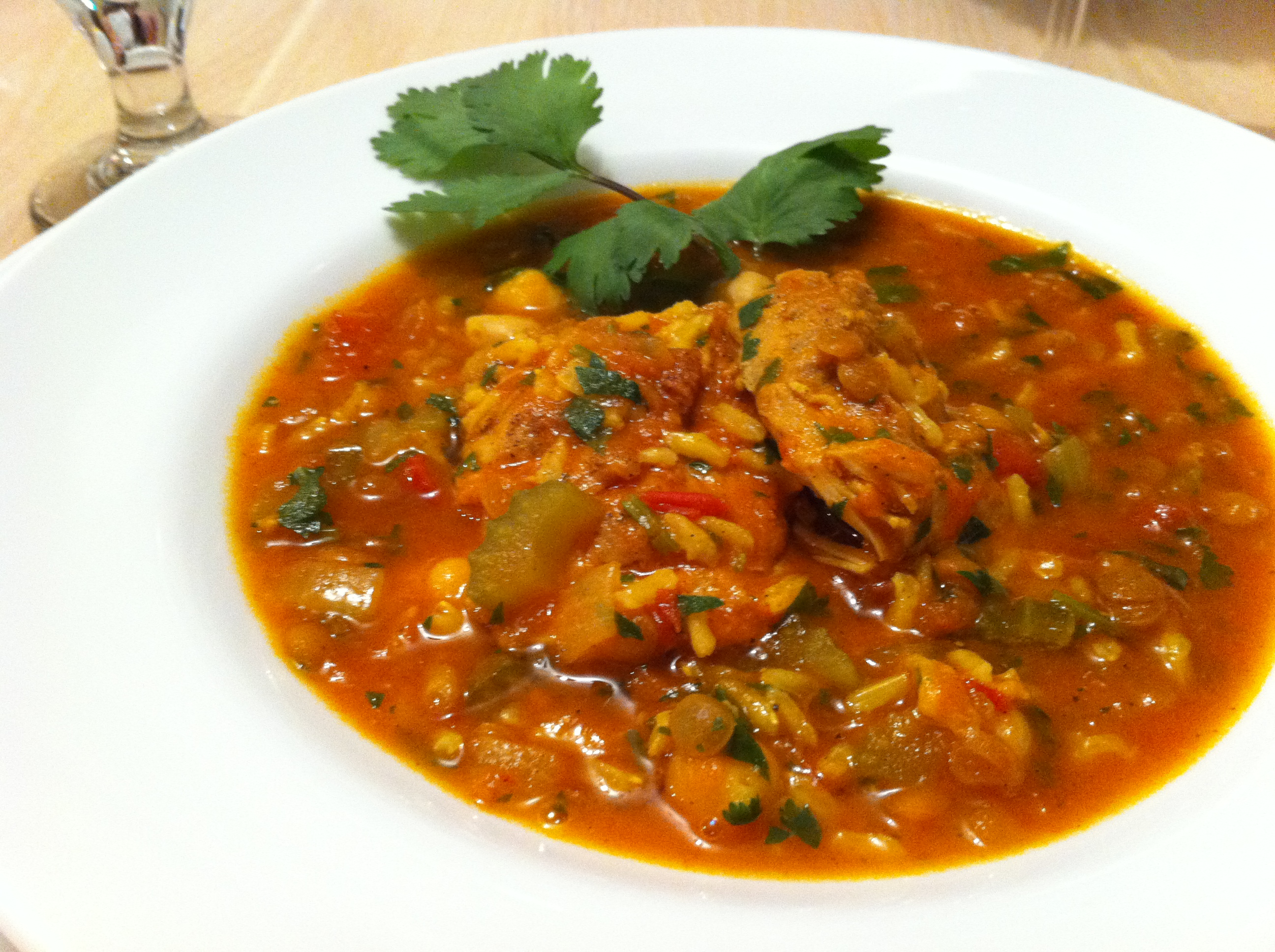 Moroccan Chickpea, Lentil and Chicken Stew - Andicakes