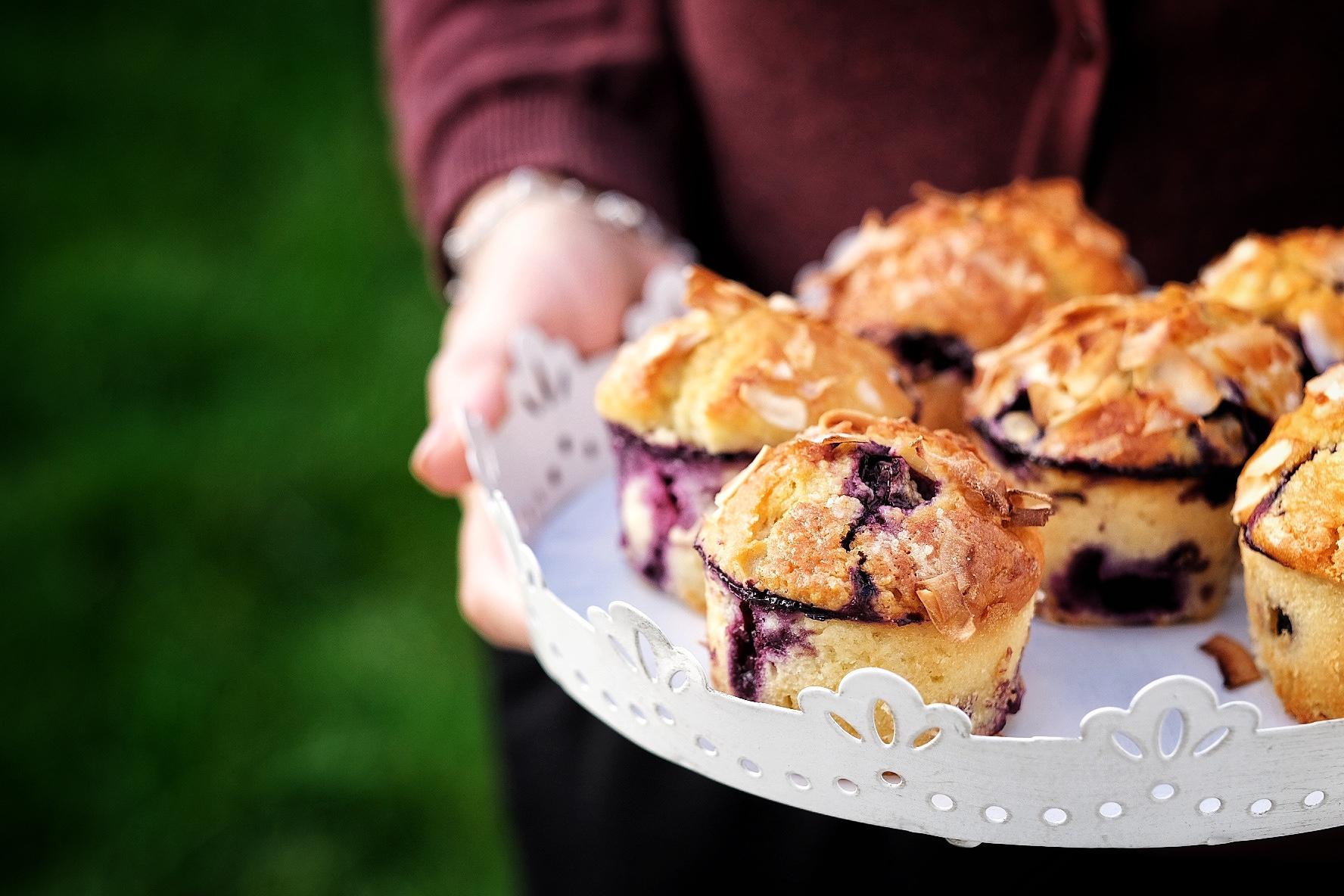 Muffins cu afine PERFECTE. Perfecte, ma!
