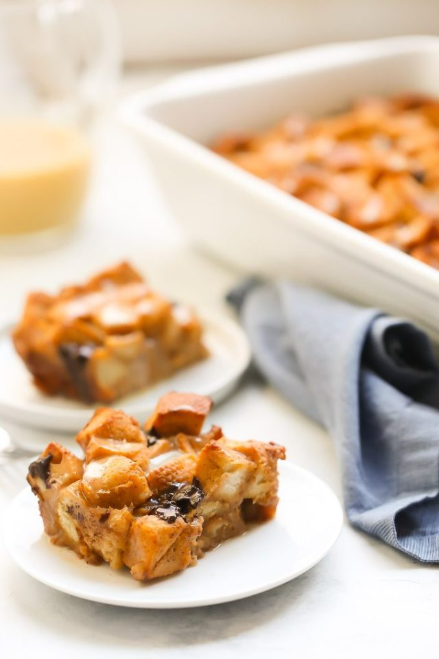 Pumpkin Eggnog Bread Pudding