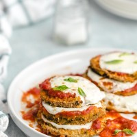 Healthy Baked Eggplant Parmesan