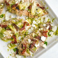 Best Grilled Chicken Recipe with Artichokes, Sun Dried Tomatoes and Feta