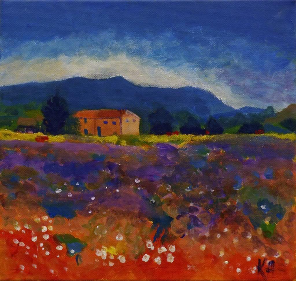 Provence, after Will Kemp - Acryilic on canvas by Andrea Kucza Andipainting