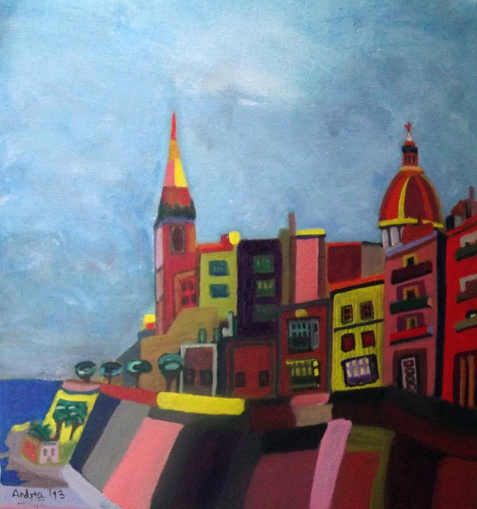 Valletta - Acryilic on canvas by Andipainting