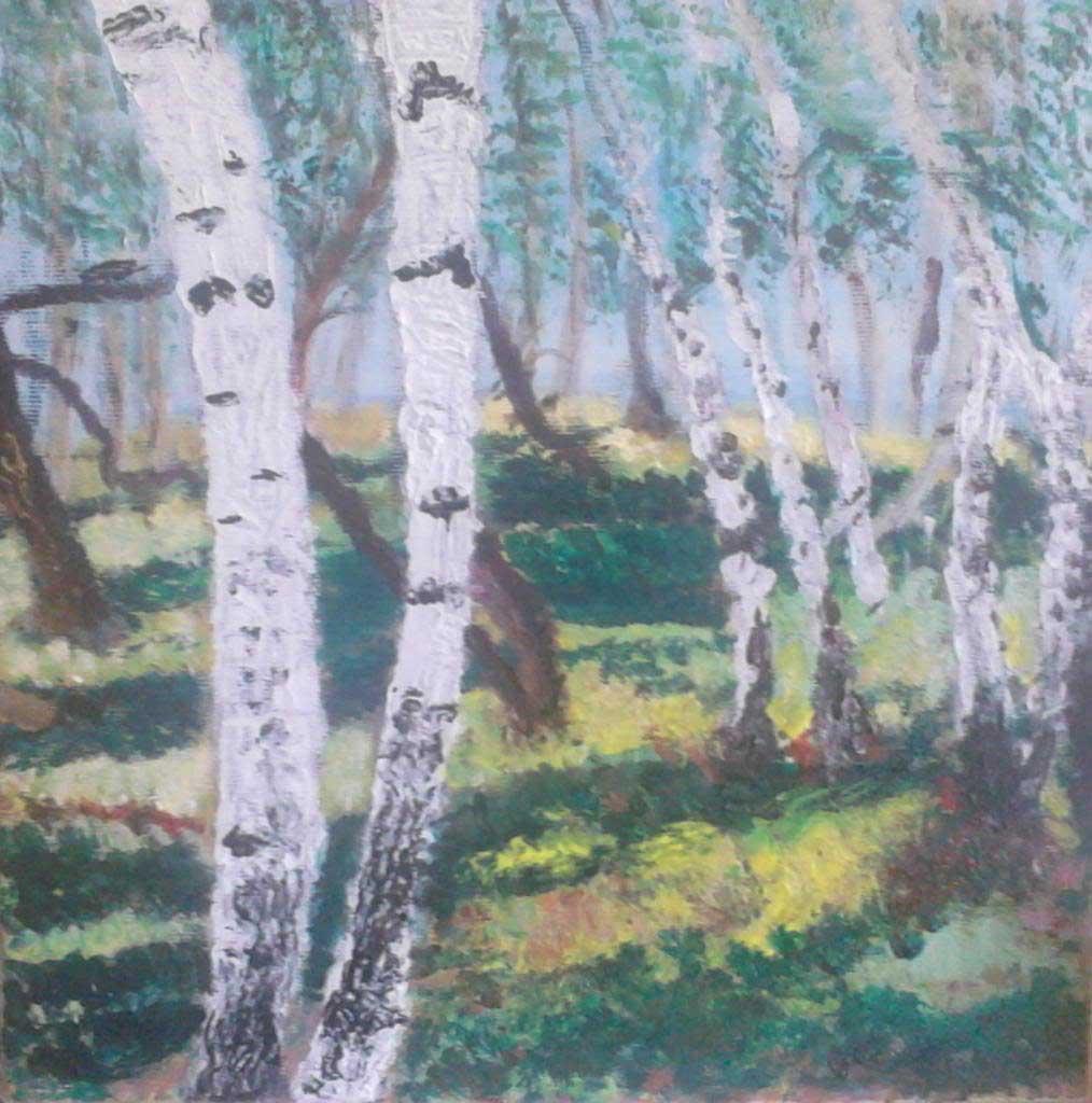 Rétyi Nyìr - Acryilic on canvas by Andipainting