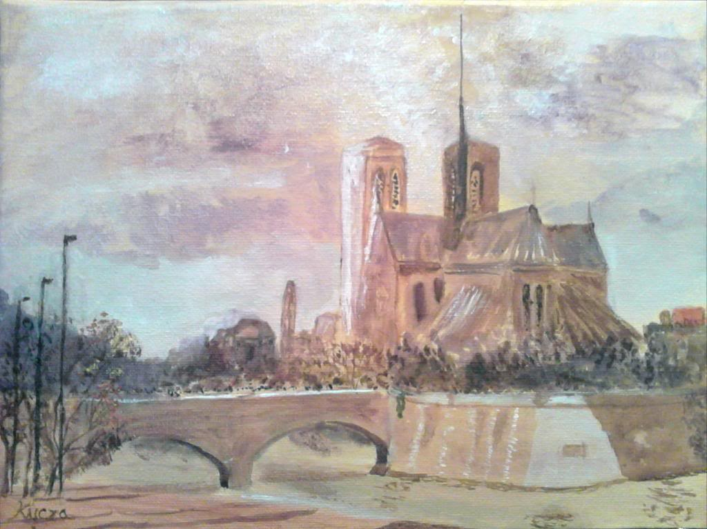 Notre Dame de Paris - Acryilic on canvas by Andipainting