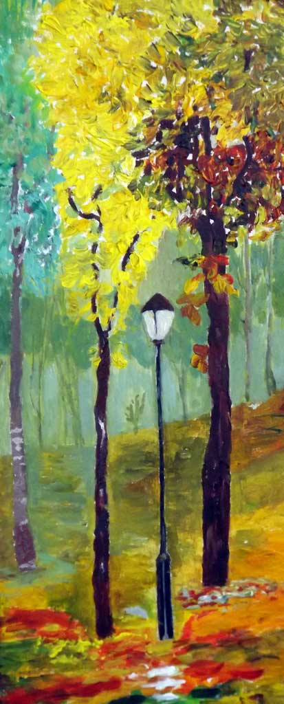 Autumn in the park - Acryilic on canvas by Andipainting