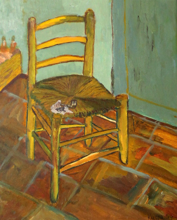 The chair - Acryilic on canvas by Andipainting