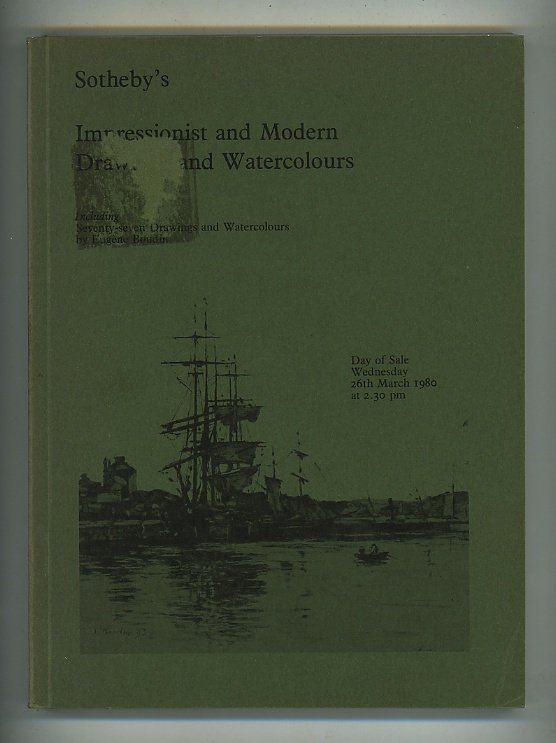 Catalogue of Impressionist and Modern Drawings and Watercolours. Day of Sale Wednesday 26th March 1980